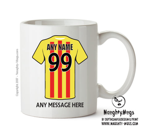 Partick Thistle Football Team Mug Personalised Birthday Age And Name