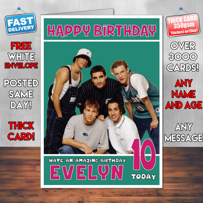 Personalised Backstreet Boys 1 Inspired Theme Music Birthday Card