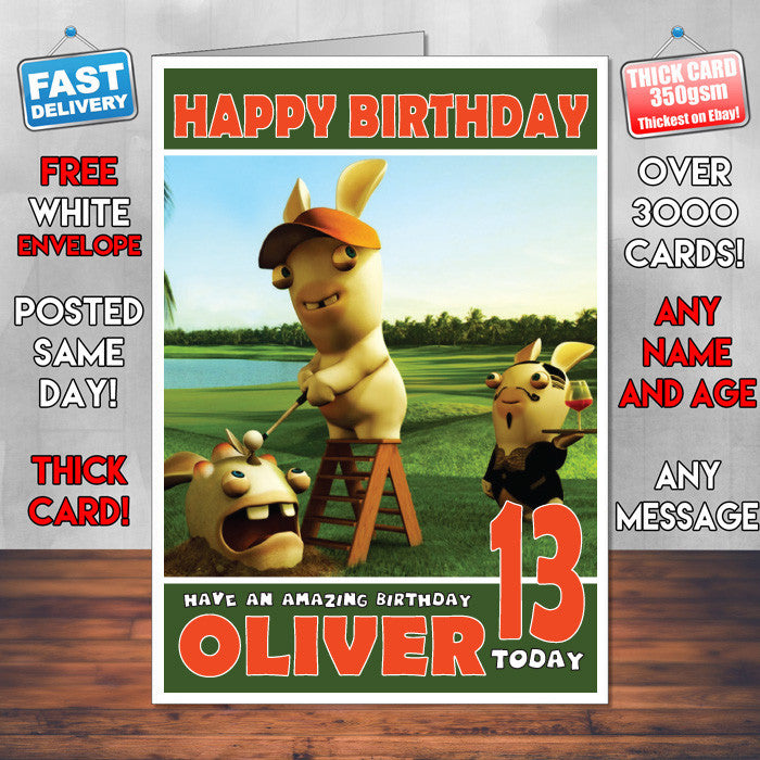 Personalised Golf For Beginners Style Inspired Cartoon Birthday Card SA