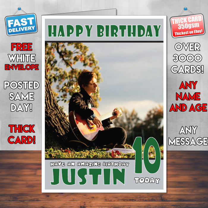 Personalised Guy Mood Music Celebrity Inspired Style Birthday Card (SA)