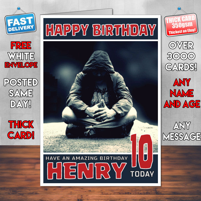 Personalised HIP HOP Dance 1 Celebrity Inspired Style Birthday Card (SA)
