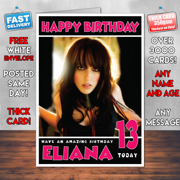 Personalised Halestorm Celebrity Inspired Style Birthday Card (SA)