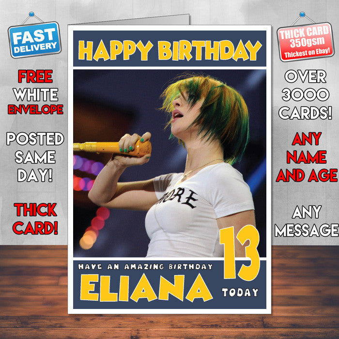Personalised Hayley Williams 1 Celebrity Inspired Style Birthday Card (SA)