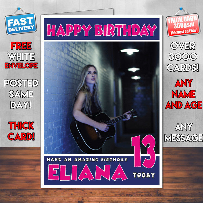 Personalised Holly Williams Celebrity Inspired Style Birthday Card (SA)