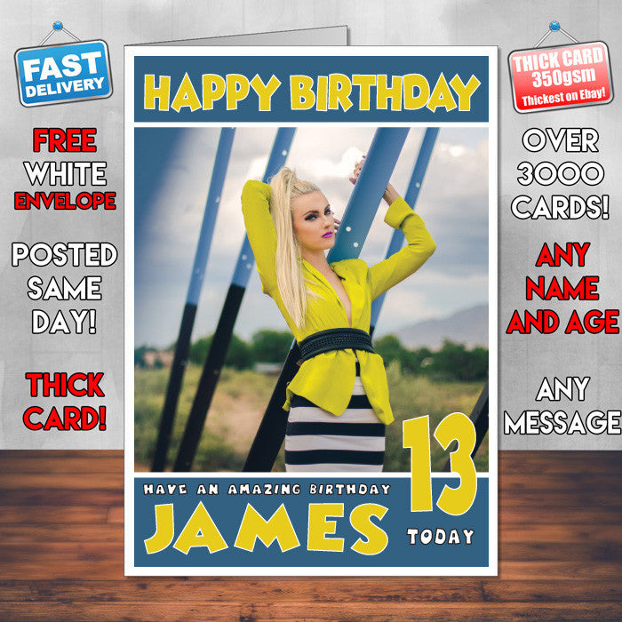 Personalised Iggy Azalea 2 Celebrity Inspired Style Birthday Card (SA)