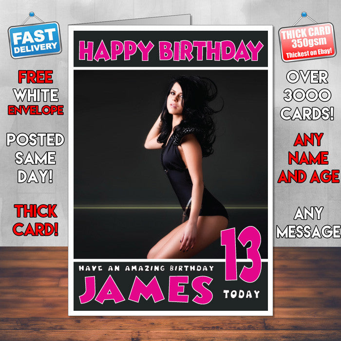 Personalised Inna 2 Celebrity Inspired Style Birthday Card (SA)