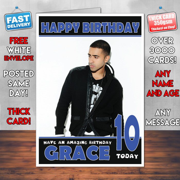 Personalised Jay Sean Celebrity Inspired Style Birthday Card (SA)