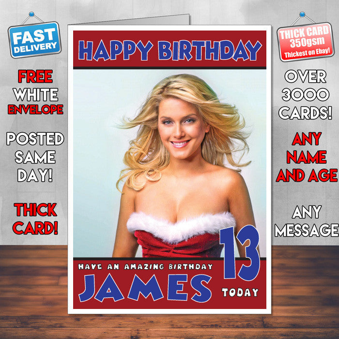 Personalised Jeanette Biedermann 2 Celebrity Inspired Style Birthday Card (SA)