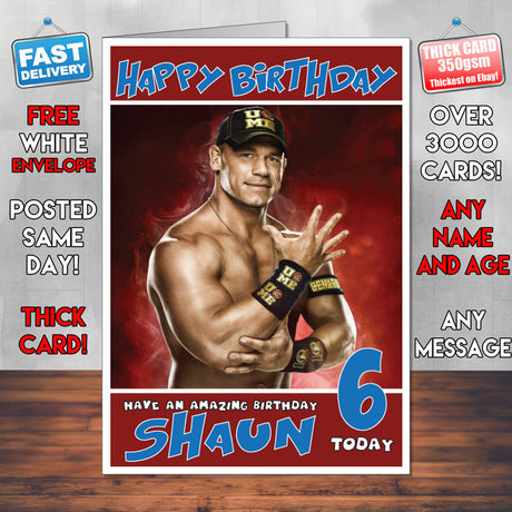 Sports cards tagged quotwrestling cardsquot foxy printing personalised john cena 2 wwe inspired style birthday card sa bookmarktalkfo Choice Image