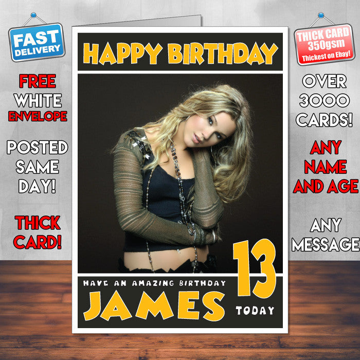 Personalised Joss Stone 1 Celebrity Inspired Style Birthday Card (SA)