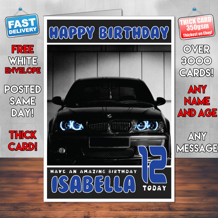 Personalised kids adults bmw 18 cars birthday card sa foxy personalised kids adults bmw 18 cars birthday card sa bookmarktalkfo Choice Image