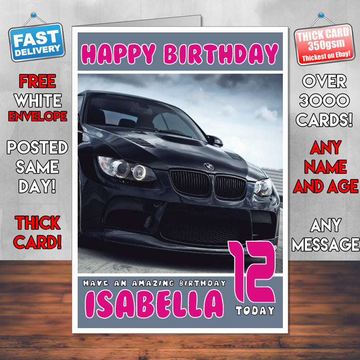 Personalised kids adults bmw 2 cars birthday card sa foxy personalised kids adults bmw 2 cars birthday card sa bookmarktalkfo