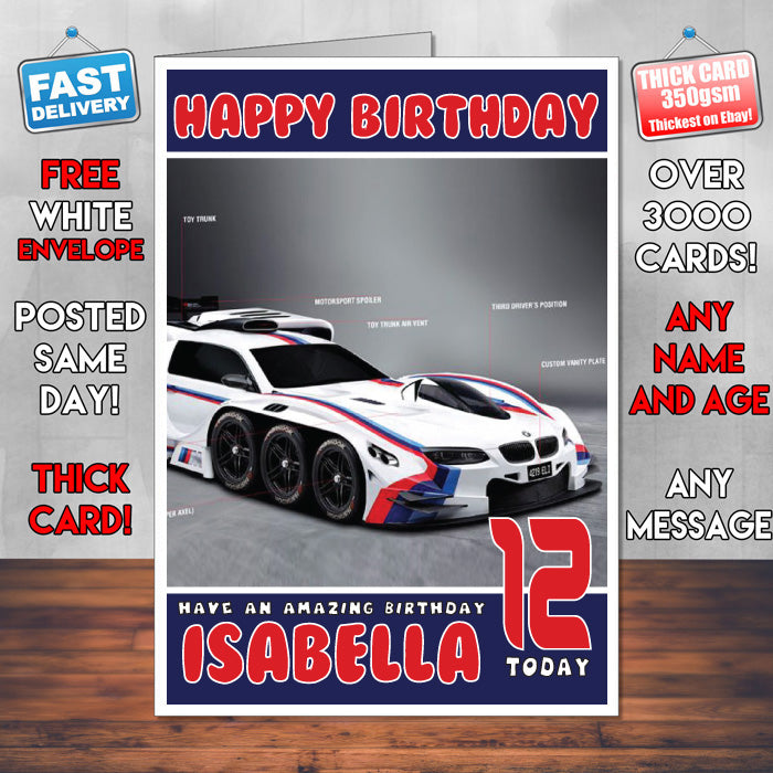 Personalised kids adults bmw 4 cars birthday card sa foxy personalised kids adults bmw 4 cars birthday card sa bookmarktalkfo Choice Image