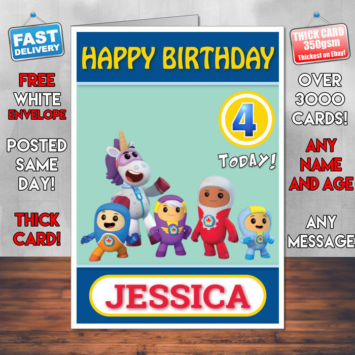 Personalised Kids Inspired Go Jetters 10 Style Theme