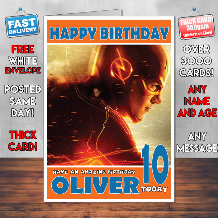Personalised the flash cw inspired theme movie birthday card sa personalised the flash cw inspired theme movie birthday card sa bookmarktalkfo Gallery
