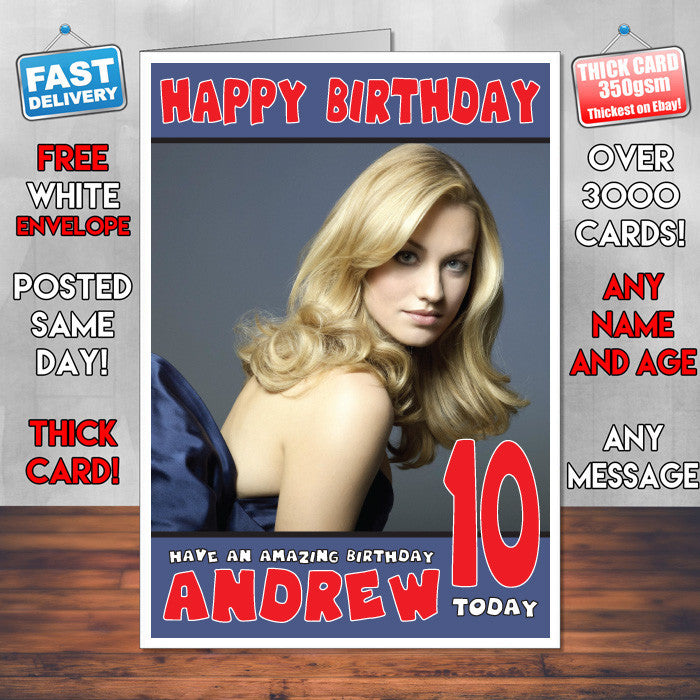 Personalised Yvonne Strahovski 3 Celebrity Inspired Style Birthday Card (SA)