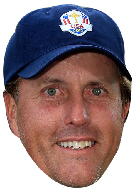 PHIL MICKELSON JB - Golf Fancy Dress Cardboard Celebrity Party Stag Birthday Idea Fancy Dress Face mask