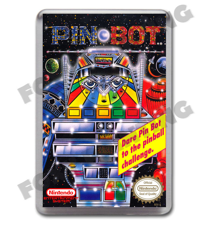 Pinbot Retro Nintendo Nes Game Inspired Fridge Magnet 440 Foxy Printing Personalised Prints Birthday Cards Retro Gaming Posters Party Items And Much Much More