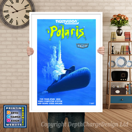 Polaris - Atari 2600 Inspired Retro Gaming Poster A4 A3 A2 Or A1