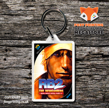 REAL BOUT FATAL FURY 2 NEO GEO CD Game Inspired Retro Gaming Keyring