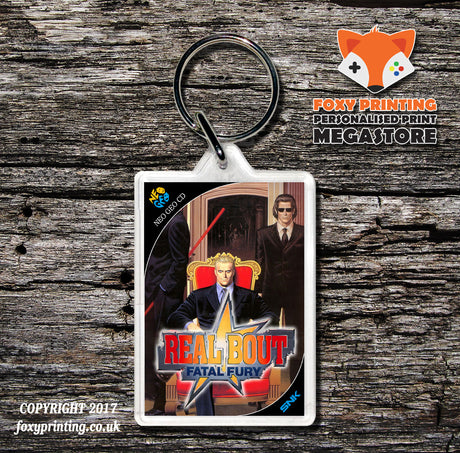 REAL BOUT FATAL FURY NEO GEO CD Game Inspired Retro Gaming Keyring