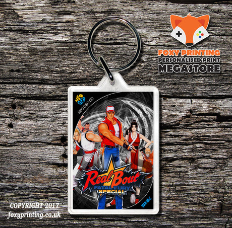 REAL BOUT FATAL FURY SPECIAL NEO GEO CD Game Inspired Retro Gaming Keyring