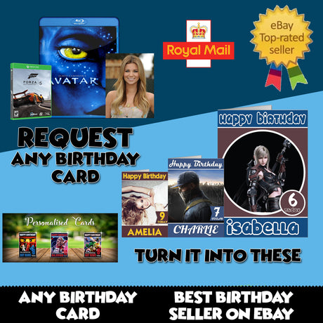 Movie Cards Foxy Printing Personalised Prints Birthday Cards
