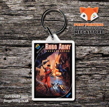 ROBO ARMY NEO GEO CD Game Inspired Retro Gaming Keyring