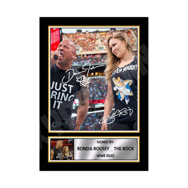 Dwayne Johnson Signed Photo Print A4 A3 A2 A1 Autographed Framed Gift Present