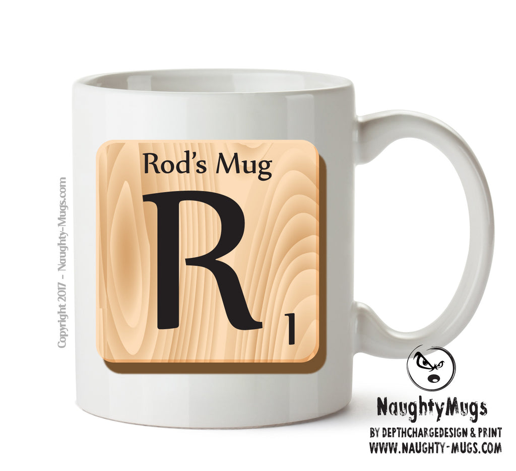 "Initial ""R"" Your Name Scrabble Mug FUNNY Gift Office Mug Funny Humour"