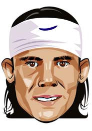 Rafael Nadal Cartoon  TENNIS Celebrity Face Mask FANCY DRESS HEN BIRTHDAY PARTY FUN STAG DO HEN