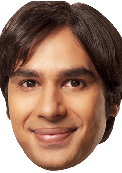 Raj Big Bang Theory Celebrity Face Mask FANCY DRESS HEN BIRTHDAY PARTY FUN STAG DO HEN