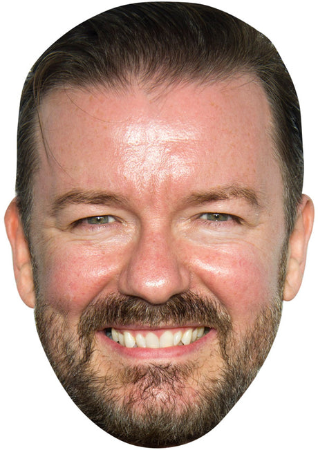 RICKY GERVAIS JB - Funny Comedian Fancy Dress Cardboard Celebrity Party mask