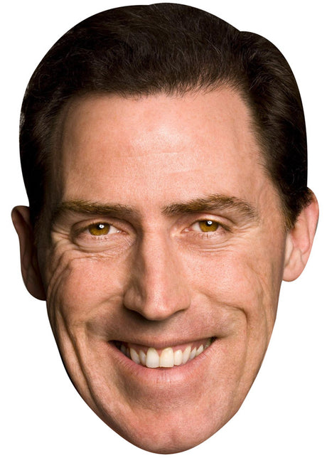 ROB BRYDON JB - Funny Comedian Fancy Dress Cardboard Celebrity Party mask