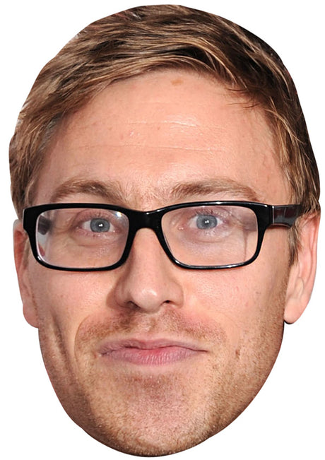 RUSSELL HOWARD JB - Funny Comedian Fancy Dress Cardboard Celebrity Party mask