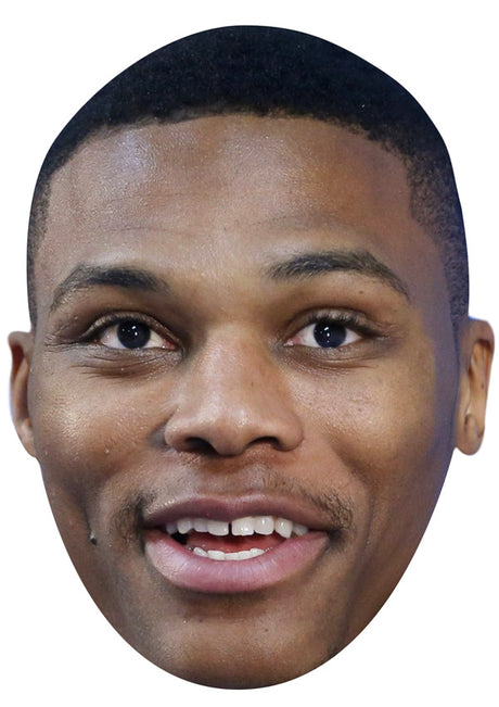 RUSSELL WESTBROOK JB - Basketball Star Fancy Dress Cardboard Celebrity Party Stag Birthday Idea Fancy Dress Face mask