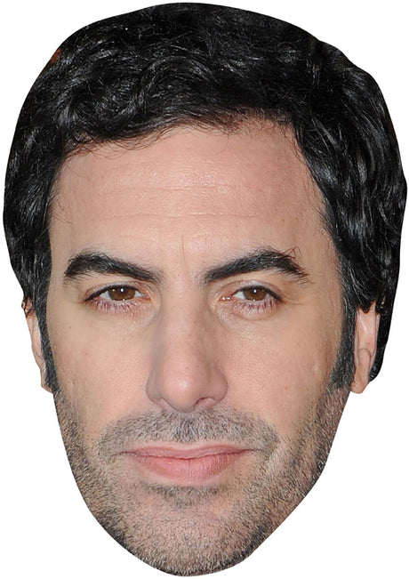 SACHA BARON COHEN JB - Funny Comedian Fancy Dress Cardboard Celebrity Party mask