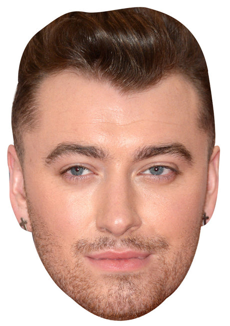 SAM SMITH JB - Music Star Fancy Dress Cardboard Celebrity Party Stag Birthday Idea Fancy Dress Face mask