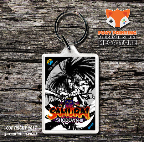 SAMURAI SHOWDOWN 3 NEO GEO CD Game Inspired Retro Gaming Keyring