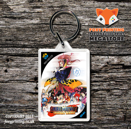 SAMURAI SHOWDOWN 4 NEO GEO CD Game Inspired Retro Gaming Keyring