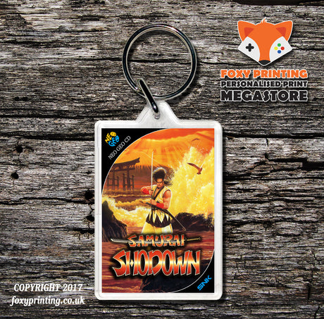 SAMURAI SHOWDOWN NEO GEO CD Game Inspired Retro Gaming Keyring