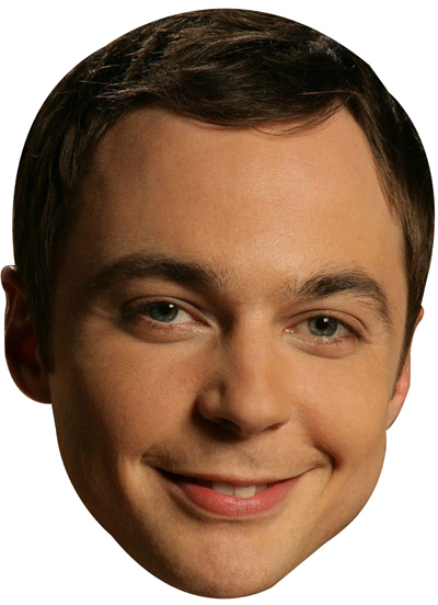 Sheldon Big Bang Theory Celebrity Face Mask FANCY DRESS HEN BIRTHDAY PARTY FUN STAG DO HEN
