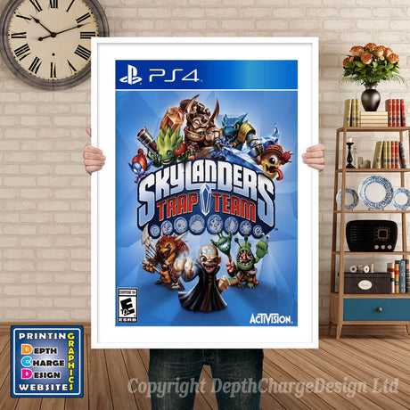 SKYLANDERS TRAP TEAM PS4 GAME INSPIRED THEME PS4 GAME INSPIRED THEME Retro Gaming Poster A4 A3 A2 Or A1