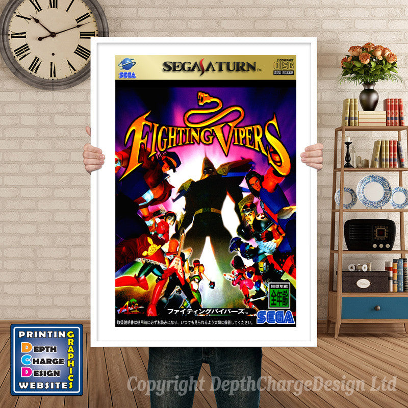 Sega Saturn Fighting Vipers 2 Game Inspired Retro Poster
