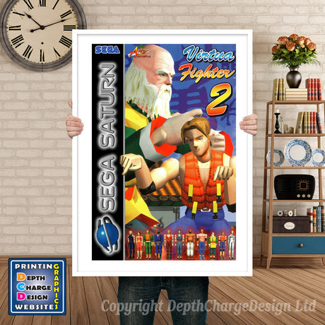 Sega Saturn Virtuafighter 2 Eu Game Inspired Retro Poster
