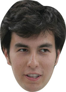 Sergio Perez FORMULA 1 Celebrity Face Mask FANCY DRESS HEN BIRTHDAY PARTY FUN STAG DO HEN