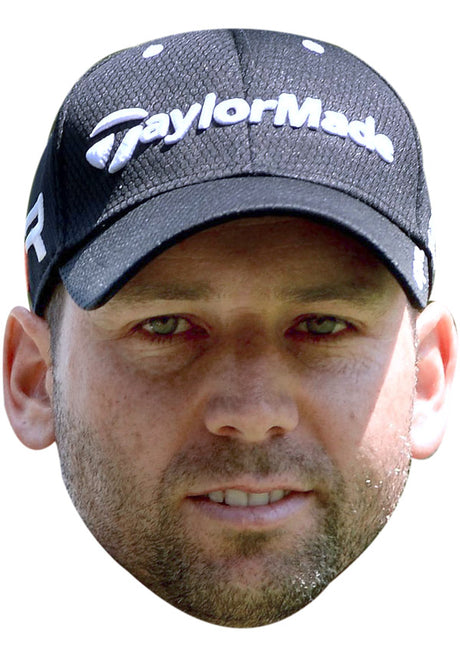 SERGIO GARCIA JB - Golf Fancy Dress Cardboard Celebrity Party Stag Birthday Idea Fancy Dress Face mask