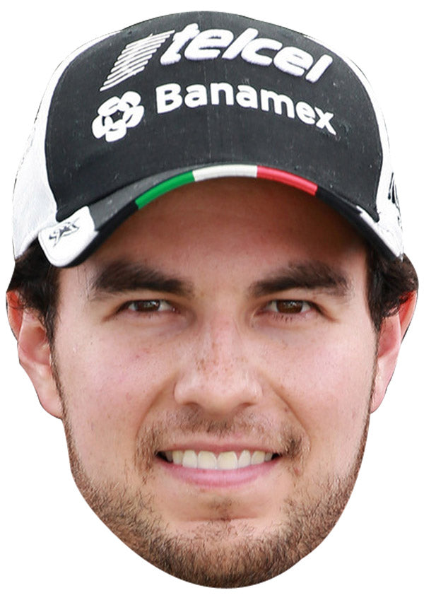 SERGIO PEREZ CAP JB - Formula 1 Driver Fancy Dress Cardboard Celebrity Party mask