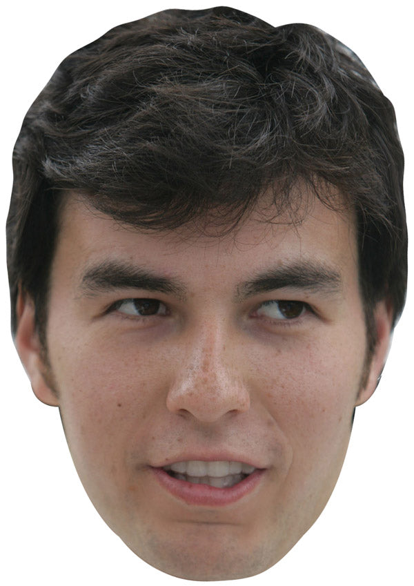 SERGIO PEREZ JB - Formula 1 Driver Fancy Dress Cardboard Celebrity Party mask