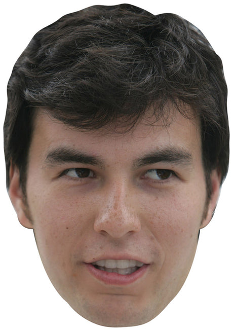 SERGIO PEREZ JB - Formula 1 Driver Fancy Dress Cardboard Celebrity Party Stag Birthday Idea Fancy Dress Face mask